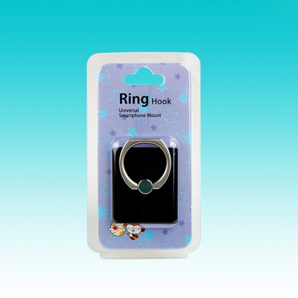 Promotional Packing Box For Mobile Phone Grip Ring Paper Card With Clear PVC Window Custom Package Box For Phone Stand Holder