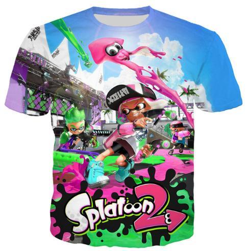0ea0fc9c7dce Novelty Cartoon Splatoon 2 New Hot Fashion T Shirt 3D Print Men ...