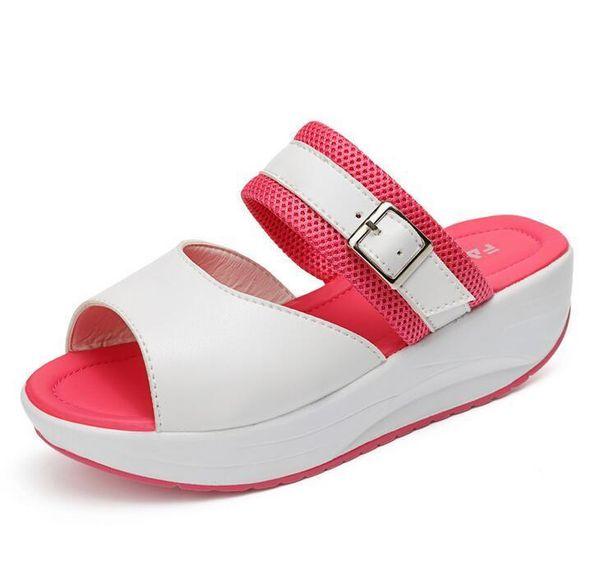 Women Summer Female Sandals Vintage Wedges Platform Shoes Peep Toe Sandal High Heels Fish Toe Shoes Zapatos heel 5 cm