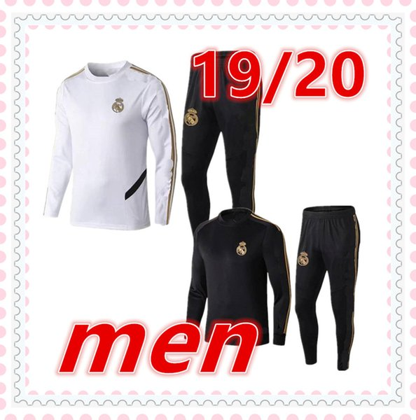 2019 2020 yetişkin eşofman Survêtement de futbol eğitimi takım elbise 19 20 Real Madrid mans chándal futbol futbol eşofman koşu