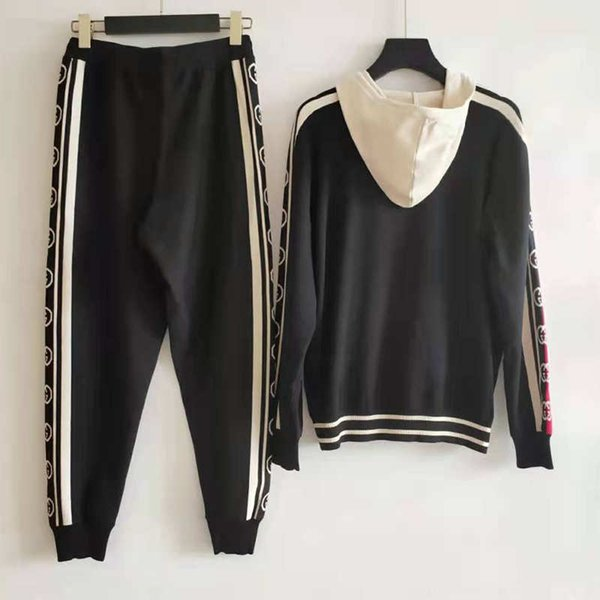 women designer tracksuits hooded fashion letter print striped side pattern brand jacket for lady  women tracksuit