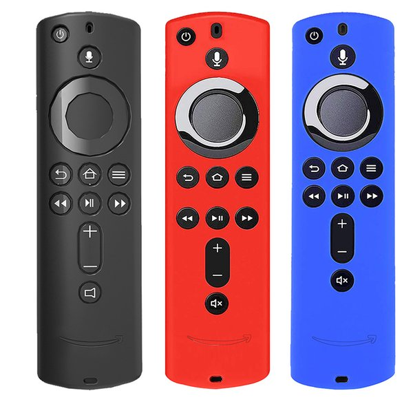 Silicone Case for Fire TV Stick 4K Fire TV 3rd Generation Fire TV Cube Remote Control Anti-slip Dustproof Shock Absorption Protective Cover
