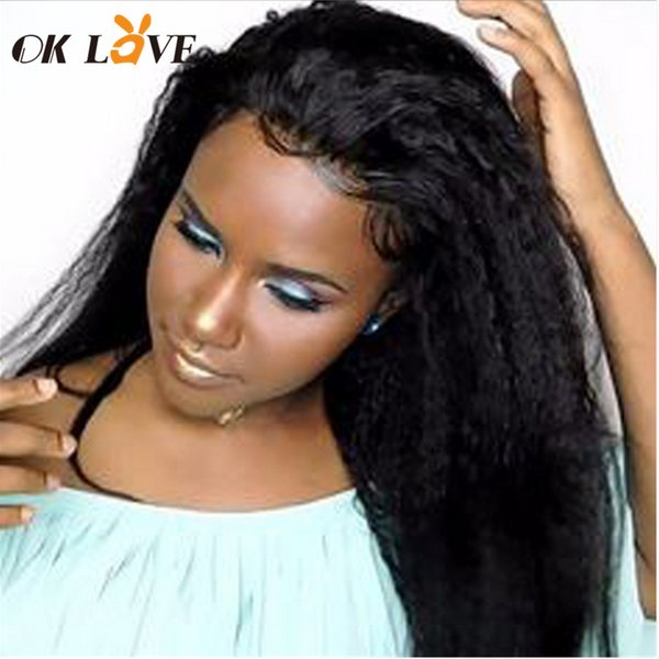 OKLove Derin Dalga Dantel Ön İnsan Saç Peruk 4x4 İsviçre Dantel Kadınlar Için Frontal Brezilyalı Bakire Saç Peruk 150% Yoğunluk
