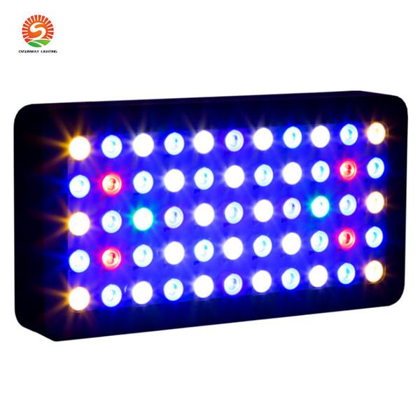 LED Aquarium lumière Dimmable Coral Reef Led 165W pour Fish Tank, Full Spectrum des récifs coralliens pour grandir Lampe Convient 55-75 Gallon Freshwat