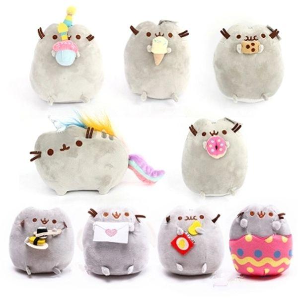 Kedi Çerez Dondurma Çörek Dolması Peluş Hayvanlar noel Oyuncaklar kedi Kızlar için Kawaii Sevimli Brinquedos Hediye