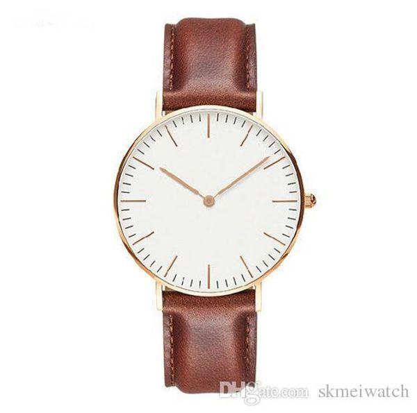 Marca de lujo para hombre, pulsera de acero, reloj de cuarzo, moda, oro rosa, plata, hombre, estilo DWwd, reloj de vestir para hombres, reloj 40 mm relogio feminino con logotipo.