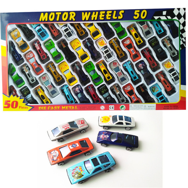 Metal Model Cars Toys Kids Car Cartoon Toys 50 Styles/Box Racing Car Friends Metal Car Toys Best Christmas Gifts Free Shipping
