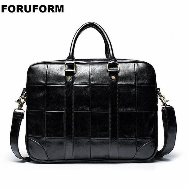 High Quality Leather Men Bag Mens Briefcase Leather Laptop Bag Business Male Men Travel Handbag Tote Crossbody Bags LI-2175