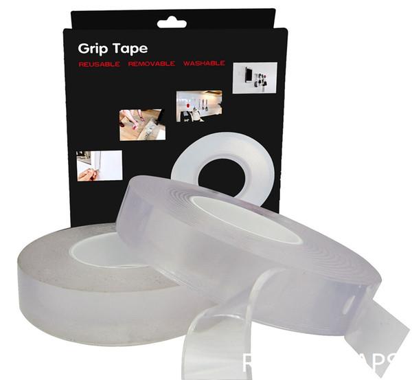 1 pcs 30mm x 2 M Magia Nano Fita Dupla Face No Resíduos Não-slip Stickiness Gel Aperto Fita Etiqueta Universal Interior Ao Ar Livre