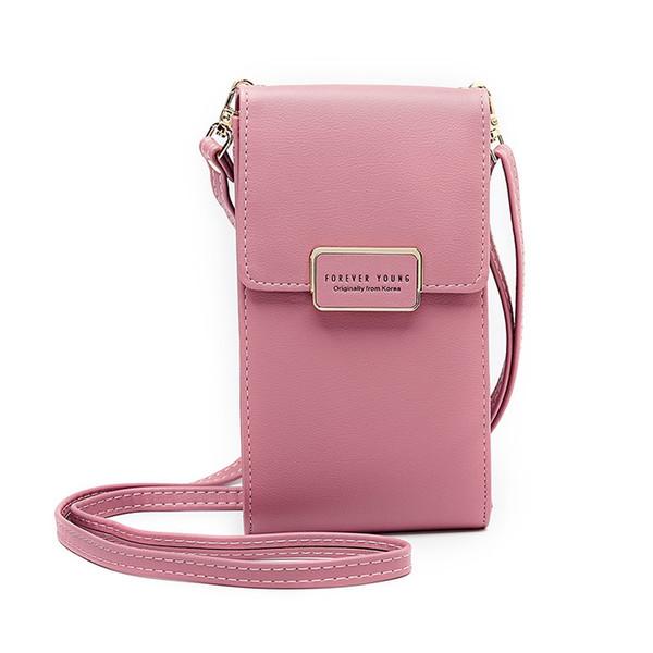 Acquista Forever Young Bag For Phone Portafoglio Femminile Large Women Borsa Lunga In Pelle Coin Card Holder Zipper Pocket Shoulder Bag Girls Belt #