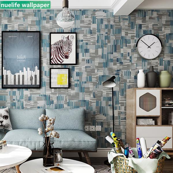 Acquista Mosaico Blu Modello Non Tessuto Carta Da Parati Camera Da Letto  Sala Da Pranzo Studio Soggiorno TV Sfondo Muro Negozio Di Abbigliamento  Carta ...