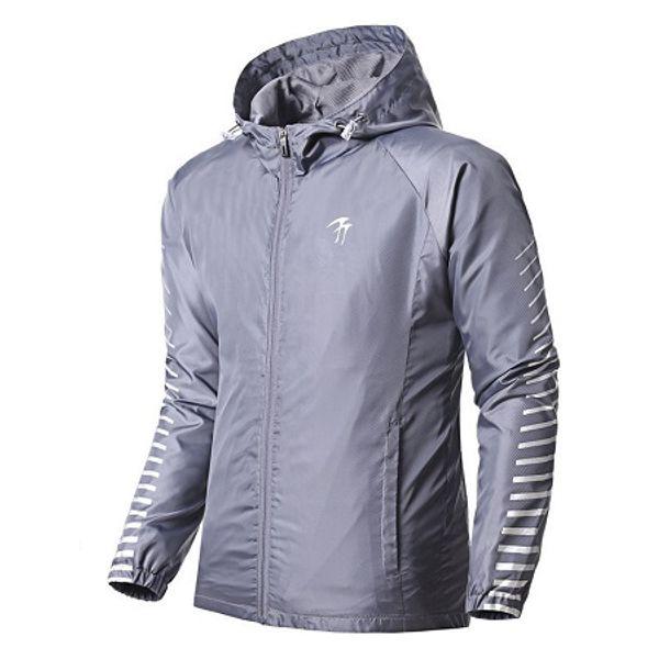 New Man Running Jacket Gym Hoodies Sport manteau coupe-vent extérieur formation coupe-vent Sweats veste randonnée Vêtements Avec M-3XL