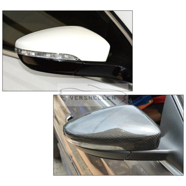 CC Carbon Mirror Caps OEM Fitment Side Mirror Cover for Volkswagen CC Scirocco Passat EOS Bettle 1:1Replacement