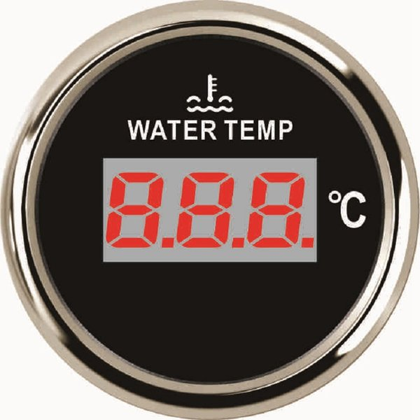 "Universal 2"" Digital Water Temp Gauge Meter 40-120 For Boat Car Yacht 12V 24V With Backlight"