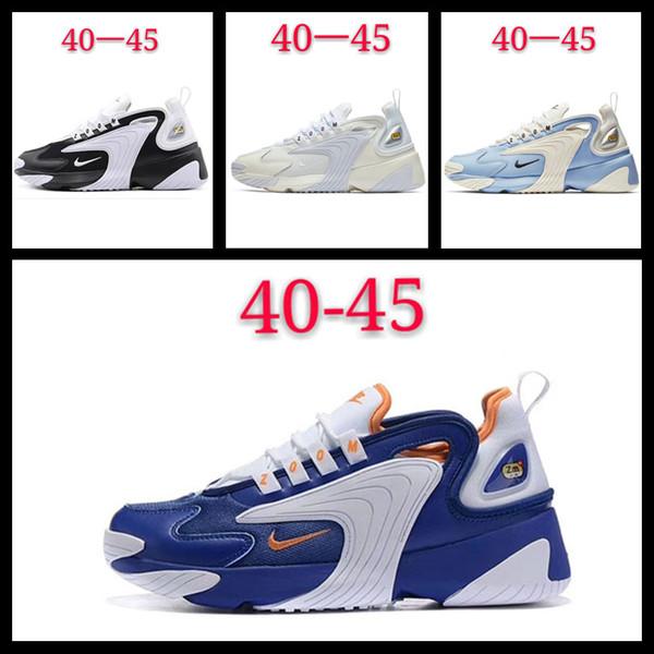 [Con] reloj del deporte para hombre de los zapatos corrientes de zoom 2K para mujeres de los hombres zapatillas de deporte negro azul real de Reace blanco cómodo entrenadores al aire libre 36-45 11
