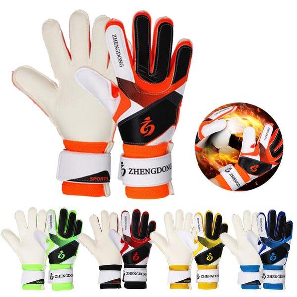 top popular Goalie Goalkeeper Gloves Youth Adult Football Soccer Goalie Training Gloves Non-Slip Wear Resistant Latex Material to Prevent Injuries 2019