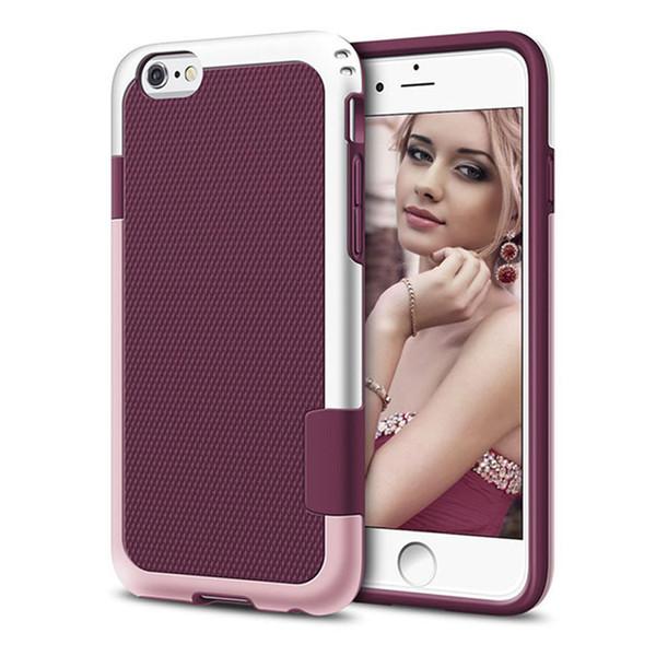 Para iphone x xr xs max heavy duty à prova de choque híbrido armadura robusto case para iphone 8 7 6 plus capa dura pc borracha macia casos de telefone de silicone