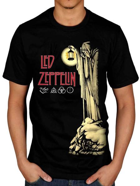 Resmi Led Zeppelin Hermit T-shirt Merdiven Cennete Hermit Punk Rock Indie Tişört Fashiont Gömlek Ücretsiz Kargo Temel Modelleri Y190412