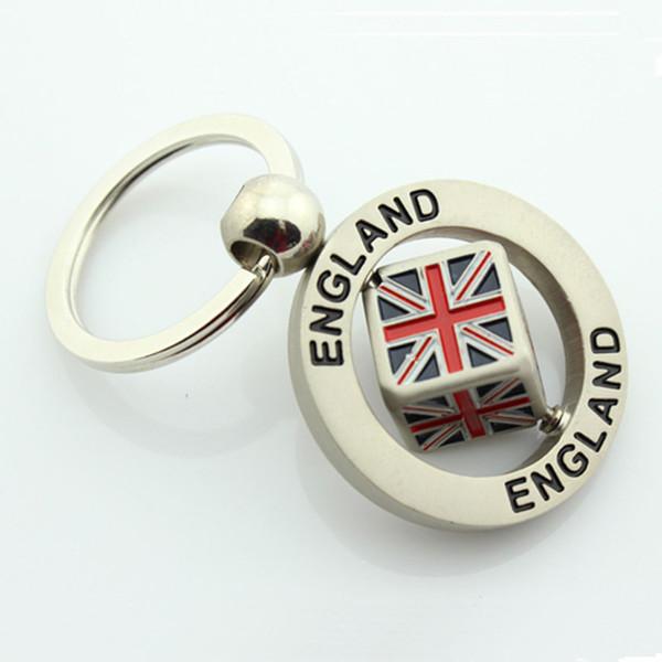 Bandeira do REINO UNIDO Union Jack chaveiro anel titular Inglaterra Bandeira da Grã-Bretanha Reino Unido das mulheres dos homens chaveiro jóias