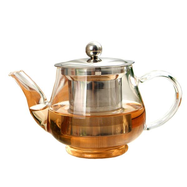 Yeni El Yapımı Çaydanlık Filtre Ile Isıya Dayanıklı Cam Çaydanlık Demlik Paslanmaz Çelik Su Isıtıcısı Toptan Çay Tencere Drinkware