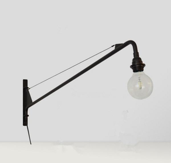 Suspension luminaire Jean Prouve Designer LED Wall Light Potence Retro Wandlamp Aisle Long Rod Cantilever LED Wall Lamp Fixture