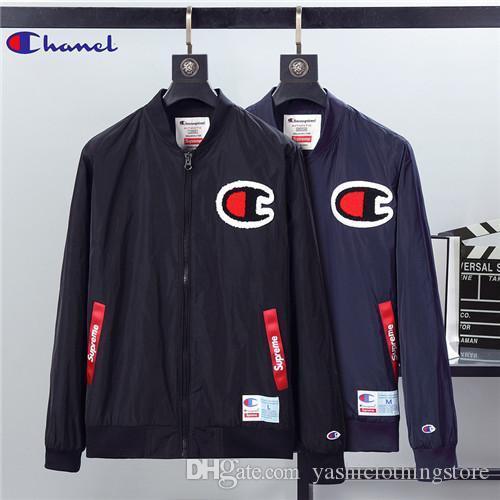 Marka yeni sonbahar ve kış erkek butik ceket tasarım, moda trendi standı yaka fermuar siyah ceket, erkek sportsw için uygun