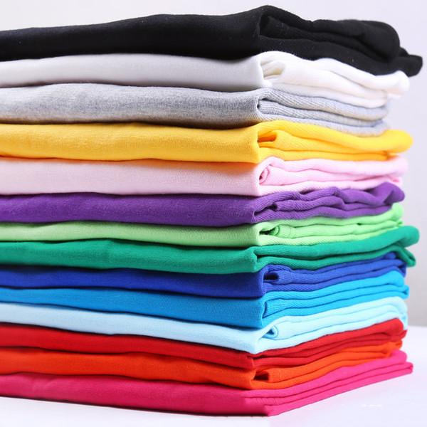 Estate 2019 Nuova t-shirt tinta unita in cotone bianco e nero per uomo T-shirt da skateboard estiva per uomo T-shirt da skateboard per ragazzi