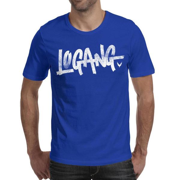 Men design printing Logan Paul Online video symbol Vintage old blue t shirt design undershirt vintage superhero band shirts printed t shi