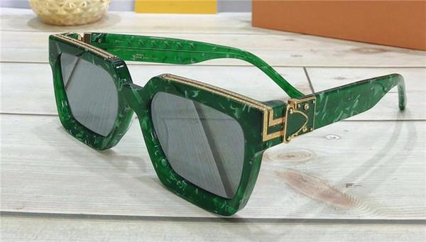 verde com lente de prata