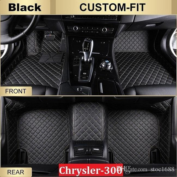 SCOT Car Floor Mats for Chrysler300 2012-2014 All Weather Carpets Custom Fits-Black Left-Hand-Driver-Model