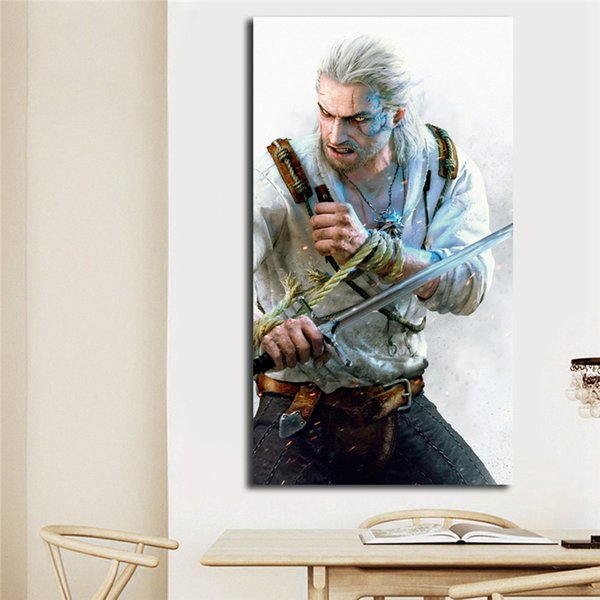 2019 Witcher 3 Geralt Of Rivia Canvas Painting Living Room Home Decoroation Modern Wall Art Painting Poster Picture For Living Room Accessories From