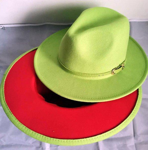 Kalk grün und rot