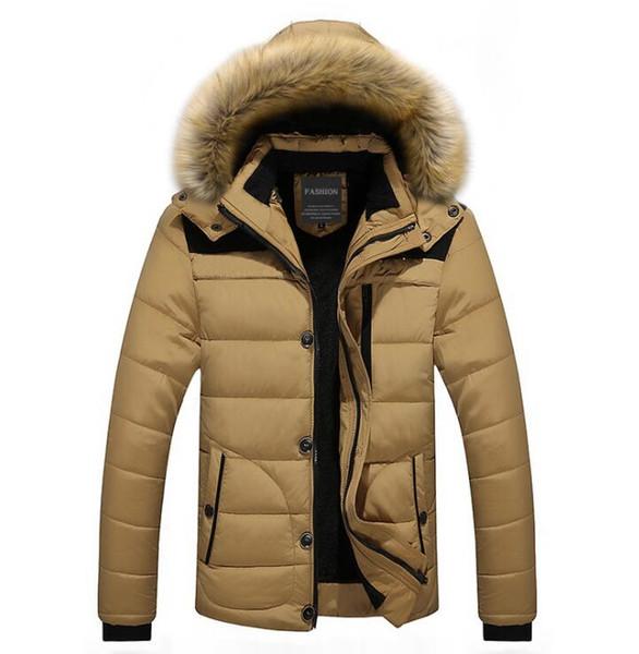 WINTER Men Hooded Designer Down Jackets Fur Design Fleece Warm Thick Coats Clothes