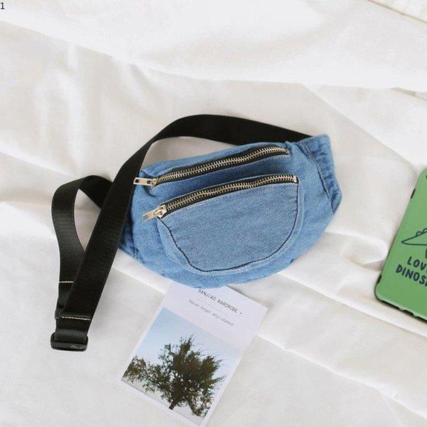 Newest Women Waist Bag High Quality Lady Waist Pack Fashion Denim Phone Bags Small Belt Bag Cool Fanny Packs Women