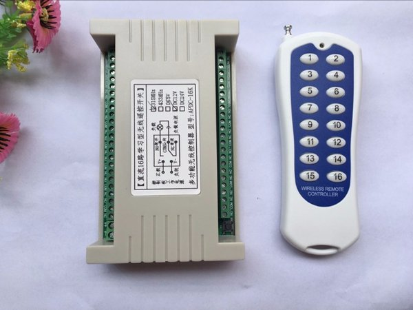 Long Range DC12V 16CH Radio Controller RF Wireless Remote Control Switch System,315/433 Mhz,Transmitter & Receiver