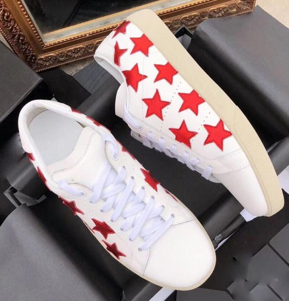 Luxury little white shoes luxury couple designer men and women new winter tide sneakers leather outdoor spring new small fresh white shoes