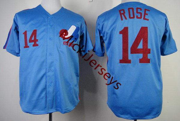 14 Pete Rose Montreal Light Blue