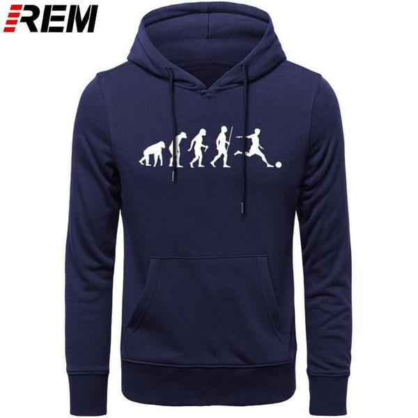 Evolução do futebol Ape a presente Mens Humano Top manga longa de algodão Casual Camisa Masculina arte, camisolas