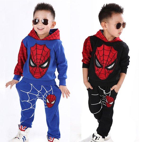 Enfants Designer Garçons Vêtements Spiderman Ensemble En Coton Sport Costume Enfants Toddler Bébé Spider Homme Cosplay Costume Enfant Survêtement Vêtements