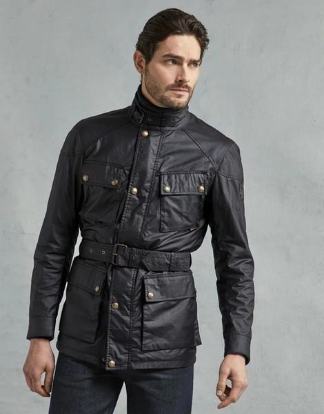 Мода бомбардировщик Куртка для мужчин Весте туристический трофей воск хлопок куртка мужчины Kurtka Turystyczna Giubbotti Cerati Moto пальто SH190925