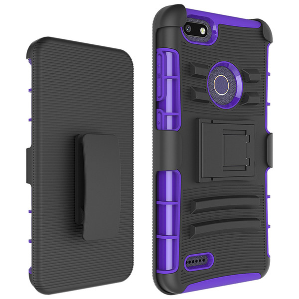 Silicone+PC Defender Holster Belt Clip Rugged Case for ZTE Grand X3 Warp 7 Zmax Pro Z981/Carry Blade X Z965 Cover with Stand