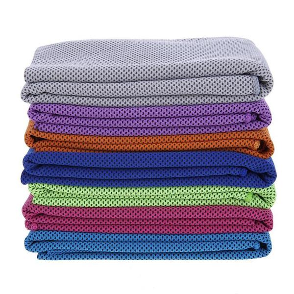 Toalha de esportes de microfibra fria esportes toalha de secagem rápida Yoga secagem instantânea