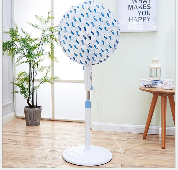 Simple and transparent printing fan cover Round waterproof floor All-inclusive electric fan cover dust cover
