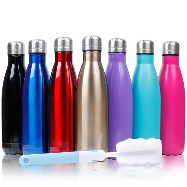 500ML Water Bottle 1 Litre Leakproof Sport Water Bottle BPA Free Large Capacity with Cleaning Brush Fruit Recipe for Outdoor