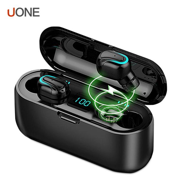 HbQ S32 TWS Bluetooth Kulaklık 5.0 Kulaklık Su geçirmez HD Stereo Kablosuz Kulaklık Gürültü Önleyici Gaming Headset ile LED Güç Görüntü