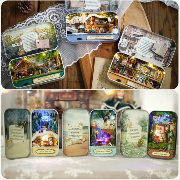 Cutebee Caixa de Teatro Casa De Bonecas Móveis Brinquedo Diy Em Miniatura Casa De Boneca Móveis Brinquedos Para As Crianças Presente de Aniversário V4 Q190611