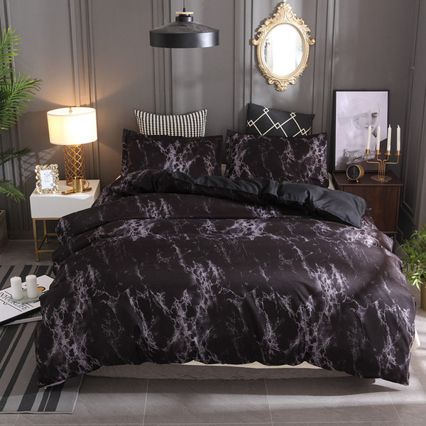 Marmormuster Bettwäsche-Sets Bettbezug-Set 2 / 3tlg. Bett-Set Twin Double Queen Bettbezug Bettwäsche Bettbezug Tagesdecke Kissenbezug-Set