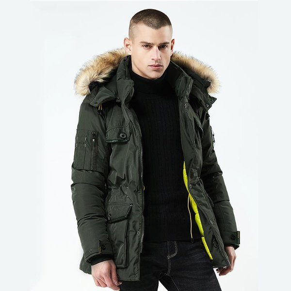 New Thick Warm Winter Jacket Men High Quality Parka Hooded Fur Collar Windproof Outerwear Winter Coat Male Clothes Wholesale