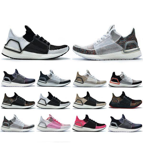 Ultra boost 5.0 Avec Box UB 5.0 Ultra 2019 Chaussures de course hommes femmes Cloud White Black Dark Pixel Refract Clear Brown Primeknit baskets baskets