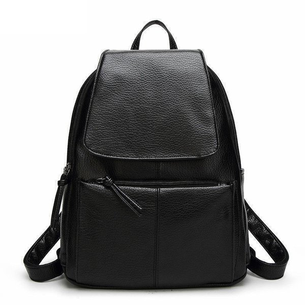 Women Backpacks Simple Casual Pu Leather School Bags For Teenage Girls High Quality Women Bags Mochila good quality Hot Sale